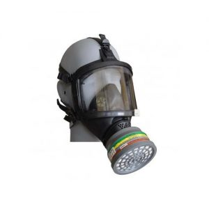 full face respirator with speech d