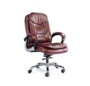 105 Brown Leatherette Chair