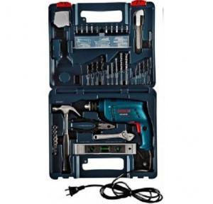 Bosch GSB 500 RE Power Tool Kit, 500 W, 2600 rpm, 06011A01K0, 92 pcs