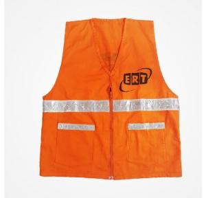 Orange ERT printed pure cotton Jacket 200GSM with 1.5 inch reflective on front
