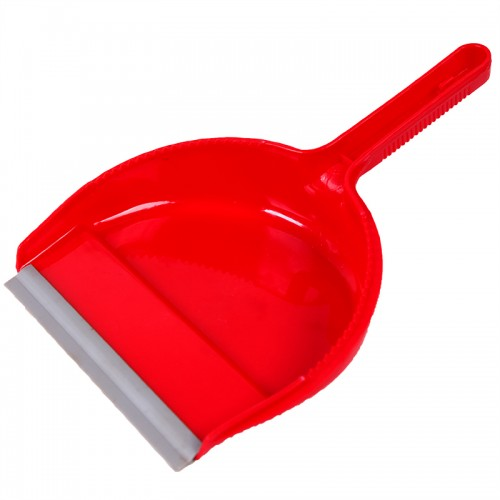 Plastic Red Dust Pan, 6 Inch
