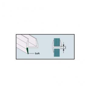Ozone Central 180 degree Plastic Glass Door Seal, OPS-3-10