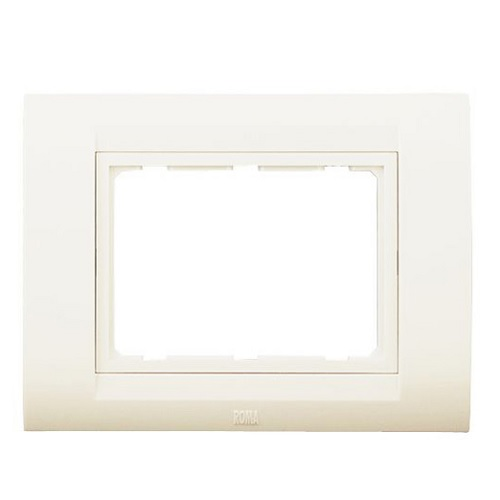 Anchor Roma Classic Tresa White Horizontal Solid Plate With Base Frame 8 M, 30384WH (White)