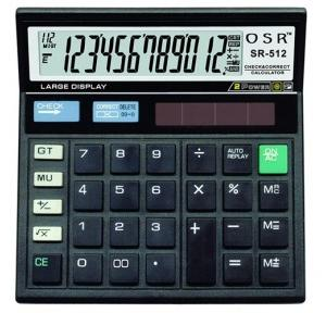 OSR 12 Digit Calculator SR-512