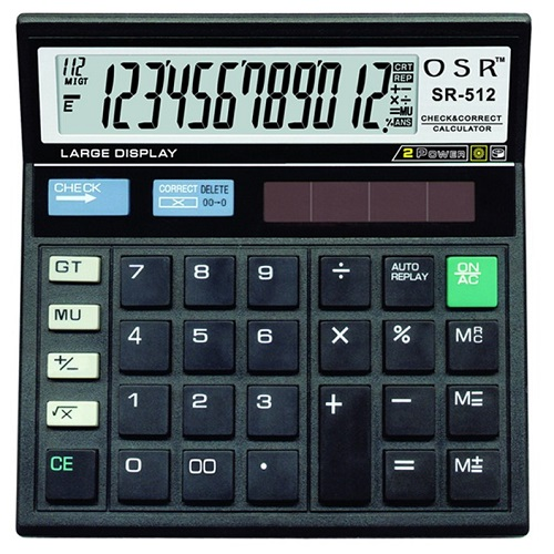 OSR 12 Digit Calculator SR-512