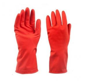 Rubber Red Hand Gloves, 8 Inch
