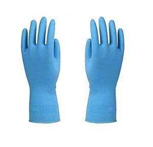 Rubber Blue Hand Gloves, 8 Inch