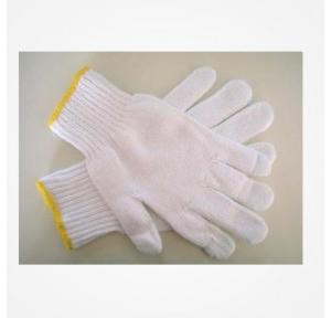 Usha Armour White Cotton Knitted Gloves, 7 Gauge