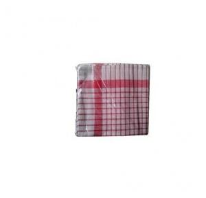 Red Check Duster, 18x24 Inch (Pack of 12)