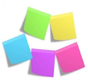 3M Post-it Multicolour Sticky Note, 3 x 4 Inch