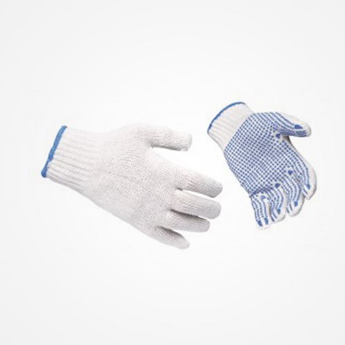 Usha Armour Gloves Cotton Knitted Single Side Polka Dotted, 60 gms