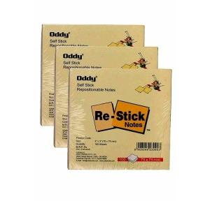 Oddy Self Sticky Notes 3x3 Inch, 100 Sheets