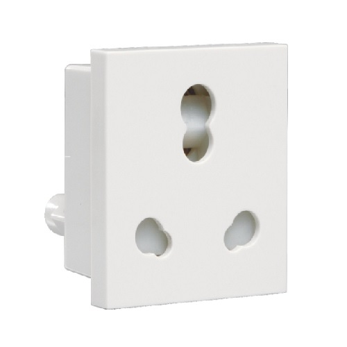 Crabtree Athena 6 - 16 A 3 Pin Combined Shuttered Socket, ACAKCXW163 (Pack of 10 Pcs)