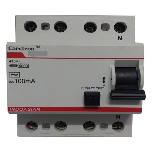 Indoasian Caretron 4P RCCB 63A, 100mA