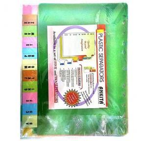 Ankita Plastic File Divider/Seperator ( A-Z )