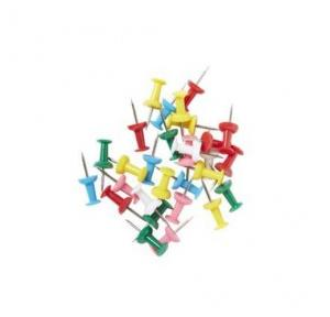 Plastic Head Type Dot Push Pin, 50 Pcs