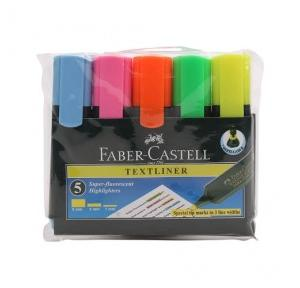 Faber Castell Text Liner Pen Assorted Pack of 5