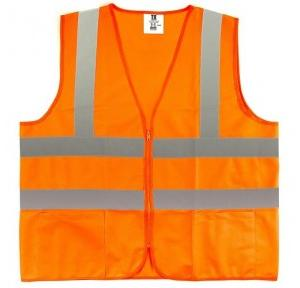 Fluorescent Jacket with 2 Inch Reflect Strips, Orange