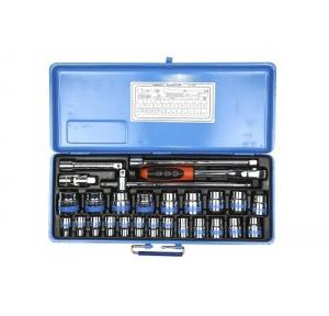 Taparia Square Drive Socket Set 1/2 inch, SM 14 (27 Pcs)