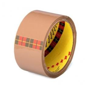3M Scotch Tan Bopp Tape, 12 Rolls, 1 Inch x 50 m