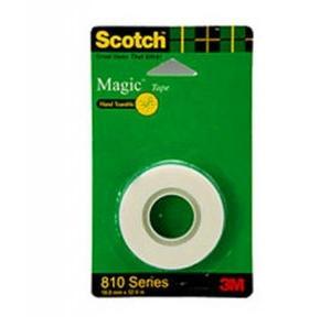 3M Scotch Magic Tape 810 Series, 19 mm x 32.9 m