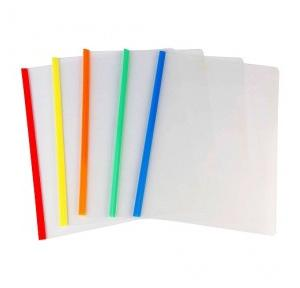 Saya 10 Pcs Clear Slide Bar Strip File Eco - A4 SY-605A