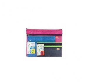 Saya Dual Zip Bag - A5 SY-2405