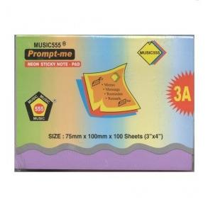 Music555 Sticky Notes 3 x 4 Inch, Pack of 100 sheets