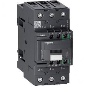 Schneider TeSys D 40A 1NO+1NC 3P AC/DC Universal Coil Green Contactor, LC1D25