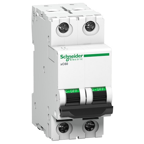 Schneider XC60 63A 2P C-Curve AC MCB A9N2P63C