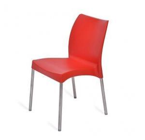 Nilkamal Novella 07 Chair, NS07SSBRD (Red)
