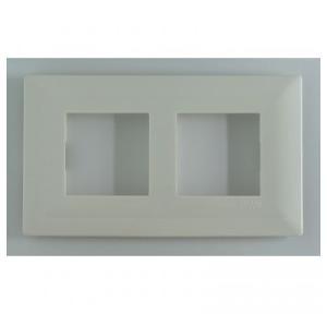Schneider Livia 4M Grid & 4M Cover Plate White, P0704