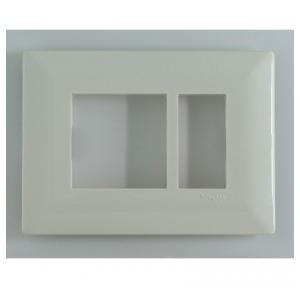 Schneider Livia 3M Grid & 3M Cover Plate White P0703