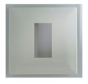 Schneider Livia 1-2M Grid & 1M Cover Plate White, P0701