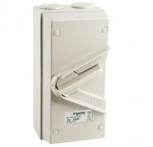 Schneider kavacha 35A 3P Heavy Duty Isolator Switch, WHT35-GY-EX