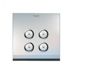 Schneider 2 Gang 2x300W Zigbee Dimming Switch, U202DST600ZB