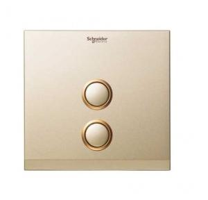 Schneider 2 Gang Switch Coverplate Champagne Gold, UC22SWXCG