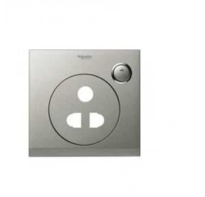 Schneider Cover Plate for 6-16A Switched Socket, UC15/616XBS (Brushed Silver)