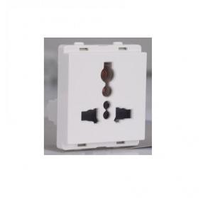 Schneider Livia 13A Multi Pin Socket Outlet with Shutter White P2010