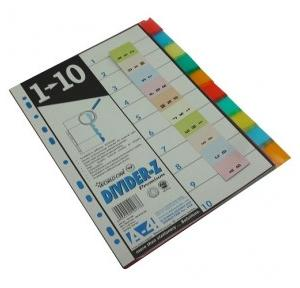 Worldone PP Divider 1 to 10 A4, DV110