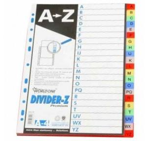Worldone PP Divider A to Z A4, DV121
