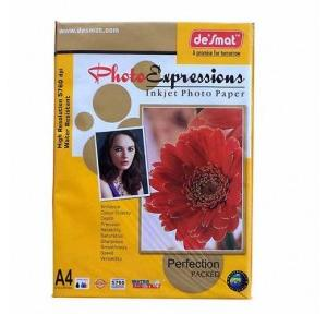 Desmat Photo Glossy Paper A4 Size, 180 GSM, 50 Sheets