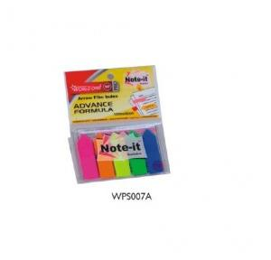 Worldone WPS007A Note it reminder pad 12 mm x 45 mm,25 x 5  sheets