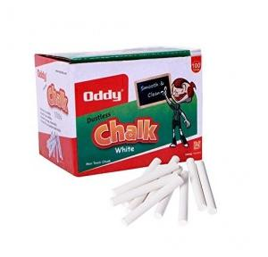 Oddy Chalk Dust Free White 10 Pcs Pack, CDF