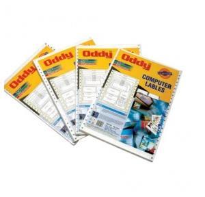 Oddy Dot Matrix Paper Labels 250 Pcs, DML1001501
