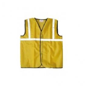 Prima PSJ-01 Yellow Safety Jacket With 1 Inch Reflector, Cloth Type