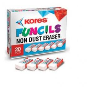 Kores Funcil Eraser Box (Pack of 5 Pcs)