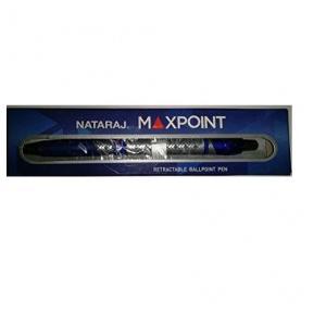Nataraj Maxpoint Retractable Ball pen-Blue (Pack of 100)