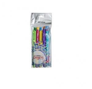 Nataraj Easy Grip Ball Pen 5pc Pouch-Blue