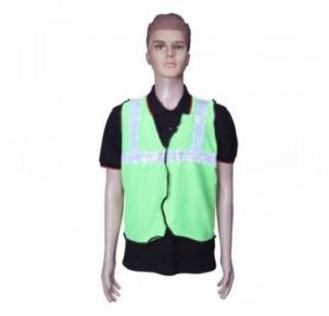Safari Reflective Safety Jacket 2 Inch Lycra, Green, 60 GSM